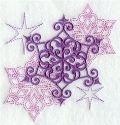 Machine Embroidery Designs at Embroidery Library! - Snowflakes