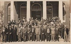 Men of the Hinesville Methodist Church, including my Grandfather Rudolph Martin.