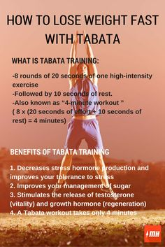 How to lose weight fast with tabata