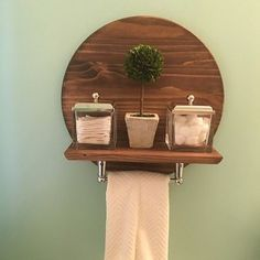 Enhance any entry way or wall with this durable pine shelf. This modern statement piece can easily hold modest accent pieces as well as your favorite framed photos. Wall Shelf Decor, Diy Wall Decor, Diy Home Decor, Room Decor, Deco Zen, Round Shelf, Shelf Design, Wooden Shelves, Home Decor Furniture
