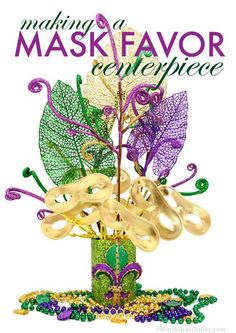 Masquerade Mask Party Favor Centerpiece: Tutorial