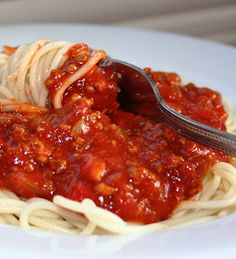 Légende d'Automne: Sauce Donalda:) Sauce Spaghetti, Cuisine Diverse, Good Food, Yummy Food, Pasta, Quick Meals, Food To Make, Food And Drink, Baking
