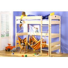 Kids Bedroom Hammock free woodworking plans to build a twin low loft bunk bed | the