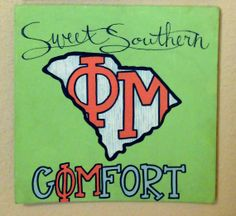 "Phi Mu Canvas - ""Sweet Southern Comfort"" on Etsy, $30.00"