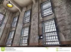 Alcatraz Prison Window Bars Stock Photo - Image: 54740260