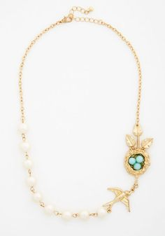 Nest Interest at Heart Necklace.  #gold #modcloth