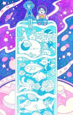 Lapis, steven, and the ocean