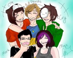 Ken, pewds, cry, mark, and minx