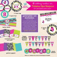 Fabulous Spa Sleepover Birthday - DIY Printable Party Pack