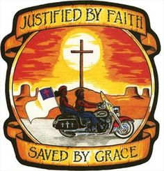 Motorcycle Vest Back Patches | CHRISTIAN BIKER PATCHES | JUSTIFIED BY FAITH SAVED BY GRACE | FREE ...