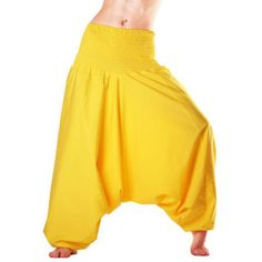 Man&Woman,s Yellow Harme Indian AliBaba Pants Afghan Hippy Yoga Jumpsuit Cotton #Unbranded #Harem