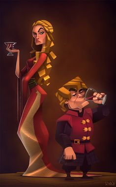 """""""Cersei and Tyrion Lannister by frogbillgo """""""