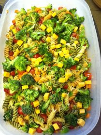 My husband has been nagging me to make pasta salad this week, especially since he harvested broccoli from the garden. It's a simple recipe ...