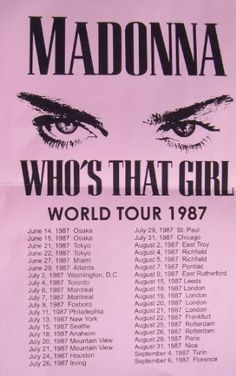 Madonna Whos That Girl World Tour 1987 LIVE 11x17 Rare Very Limited Concert Poster Print Only One on Amazon by Music Wallz, http://www.amazon.com/dp/B007R5MFP4/ref=cm_sw_r_pi_dp_ixpQrb0Y7AKA8