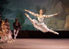 """Nadezhda Batoeva, portraying a friend of the prince, performs in """"Swan Lake"""" by the Mariinsky Ballet at the Segerstrom Center for the Arts in Costa Mesa. (Allen J. Schaben/Los Angeles Times/October 3, 2012)"""