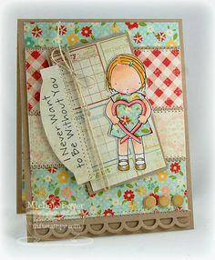 Beautiful Pure Innocence card by Michelle Boyer....