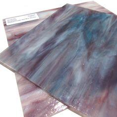Stained Glass Medium Amber Opal Wispy Iridescent Wissmach Sheet
