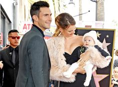 Adam Levine and Behati Prinsloo's Baby Girl Makes Her Public Debut at His Walk of Fame Ceremony