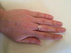 Hamsa diamond ring 14K Rose Gold Pave Setting by Brilliantee