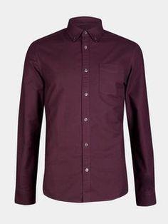 Berry Long Sleeve Oxford Shirt