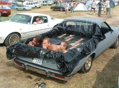 """No, really - literally car pooling - The family who saw a tarp and a car and thought: """"swimming pool!"""":"""