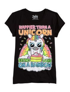 happier than a unicorn eating cake on a rainbow justice - Google Search  I want this!!!