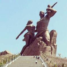 The African Renaissance Monument in Senegal, larger that the Eiffel tower and the Statue of Liberty.
