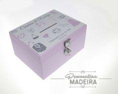 Caixa Cofre Sapatinho da Noiva - Personaliza Madeira