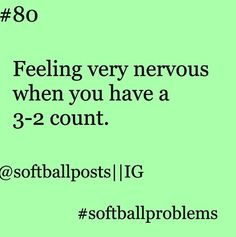 Softball.. Although I absolutely love this feeling these are usually my big hits on a 3-2 count