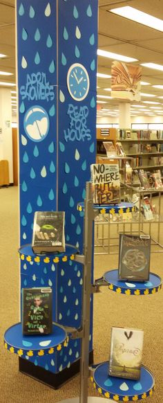 April Showers, Read For Hours - Library Display