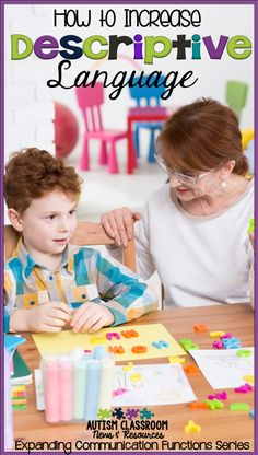 Our students with autism struggle with making connections from receptive language to expressive language. They learn to understand and connect things receptively but they need explicit instruction to use it expressively. Here are some ways to teach it. Autism Activities, Vocabulary Activities, Speech Therapy Activities, Language Activities, Therapy Games, Therapy Tools, Music Therapy, Speech Language Pathology, Speech And Language