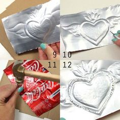 Mexican tin heart folk craft DIY myGraceful staffed diy metal projects ideas Join NowPro-active doubled metal art projects Add to shopping cartRisultati immagini per Tin painted Best Ideas for Recycled Craft Projects Aluminum Foil Art, Aluminum Can Crafts, Metal Crafts, Recycled Crafts, Diy Crafts, Aluminum Foil Crafts, Tin Foil Art, Recycled Clothing, Recycled Fashion