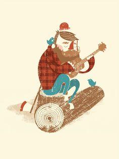Lumberjack by Blake Suarez, via Flickr