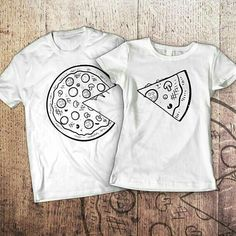 Pizza and Pizza Slice Matching Shirts pizza shirt couples gift funny tshirts mat. Cute Couple Shirts, Bff Shirts, Matching Couple Shirts, Family Shirts, Cool T Shirts, Matching Outfits, Funny Tshirts, T-shirt Paar, Couple Shirt Design