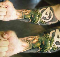 Hulk tattoo - Visit to grab an amazing super hero shirt now on sale!