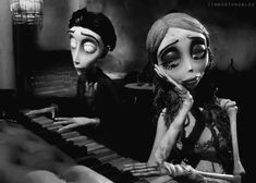 Corpse bride and piano. Coraline, Cartoon Movies, Cartoon Characters, Corpse Bride Piano, Tim Burton Corpse Bride, Tim Burton Films, Mary I, Stop Motion, Nightmare Before