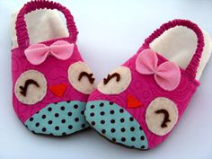 Owls & Chicks Kids Slipper PDF Sewing by sweetpeakidspatterns, $5.50