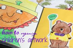 How to organize children's artwork. I really like the archival albums she links to...