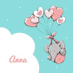 Lief olifantje met hartjes 1