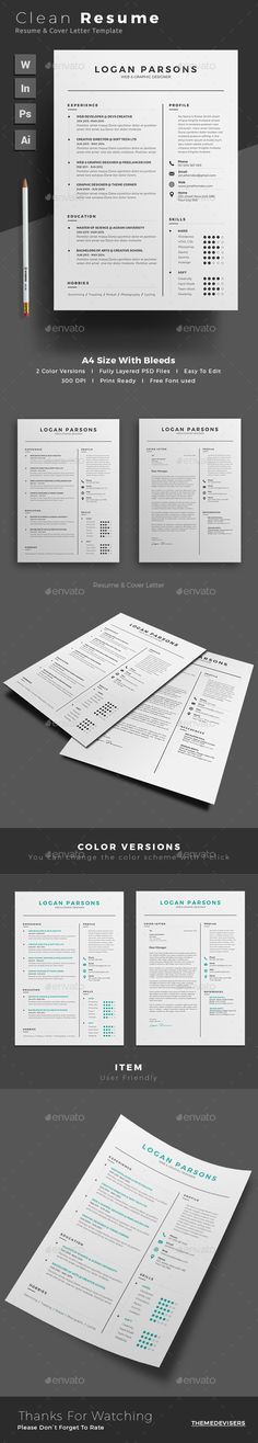 Resume by themedevisers Professional Resume Word Template. Elegant page designs are easy to use and customize, so you can quickly tailor-make your resume College Resume Template, Simple Resume Template, Resume Design Template, Creative Resume Templates, Cv Template, Resume Words Skills, Creative Cv, Job Resume, Cover Letter For Resume