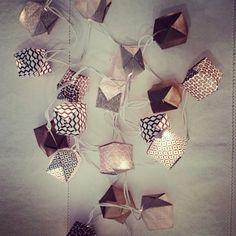 Guirlande lumineuse en origami