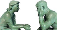 """Tuturor le place un bun ascultator. Atunci ce este asa de greu de facut? Fiecare dintre noi este interesat in mod vital de ce se intapla cu el insusi. Este foarte flatant cand cineva ne asculta cu adevarat. """"Cu cat asculti mai bine, cu atat mai bine aud ceilalti. """" Garden Sculpture, Outdoor Decor"""