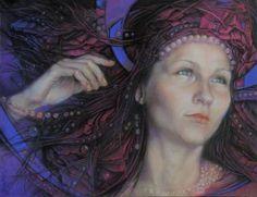 """Saatchi Art Artist Graszka Paulska; Drawing, """"Ewa"""" #art"""
