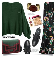 """Gorgeous Green"" by mahafromkailash ❤ liked on Polyvore featuring Max&Co., Orduna Design, Avenue, Bobbi Brown Cosmetics and Yves Saint Laurent"