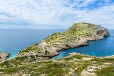 Cabrera island - Lighthouse on Cabrera island. National park. Balearic islands, Spain