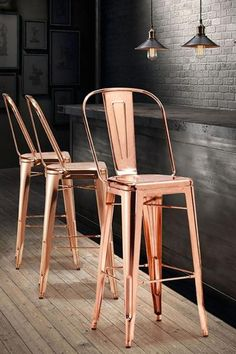 Elio Barstool in Rose Gold. Find Zuo Modern Furniture and more Rose Gold at Hold It Contemporary Home Furniture. put where wash bin is now. Copper Bar Stools, Rose Gold Bar Stools, Copper Chairs, Copper Pots, Rose Gold Decor, Copper Decor, Chaise Bar, Chic Desk, Copper Kitchen