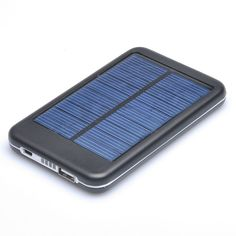Polycrystalline Solar Panel Powered Back Up Battery USB Charger - 4000mAh Batter