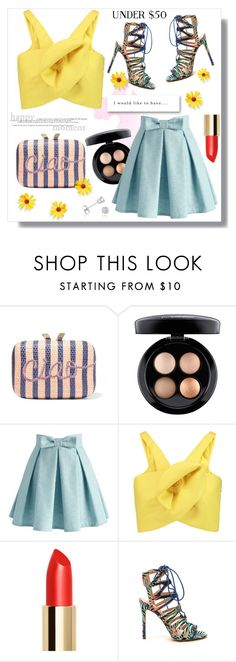 """skirtunder50"" by bellamonica ❤ liked on Polyvore featuring KOTUR, MAC Cosmetics, Chicwish, Delpozo, Amanda Rose Collection, under50 and skirtunder50"