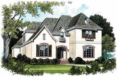 Eplans French Country House Plan - Brilliant Use of Space - 3281 Square Feet and 4 Bedrooms from Eplans - House Plan Code HWEPL08837