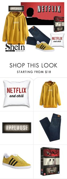 """""""Make it a SheIn Night"""" by two-faced-honey on Polyvore featuring Spicher and Company, American Eagle Outfitters and adidas"""